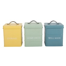 3 Piece Coffee Sugar Tea Storage Boxes Canister