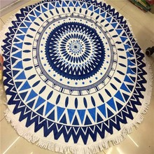 high quality personalized round beach towels