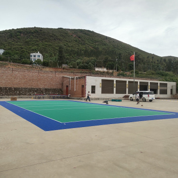 ITF approved outdoor interlocking sports flooring