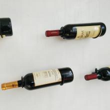 1-100PCS,Cheap Wall Mount Black Metal Wine Bottle Shelf Bracket, Wine Bottle Display Shelf Support ,Wine Rack Bracket Supplier