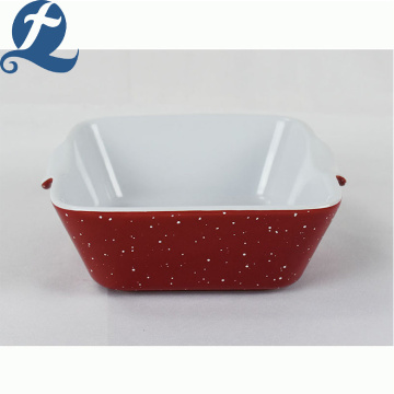 Hot sale popular fashion style container rectangular bakeware with binaural
