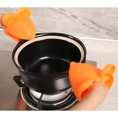 Mouse Head Heat Resistnace Silicone Gloves For Baking