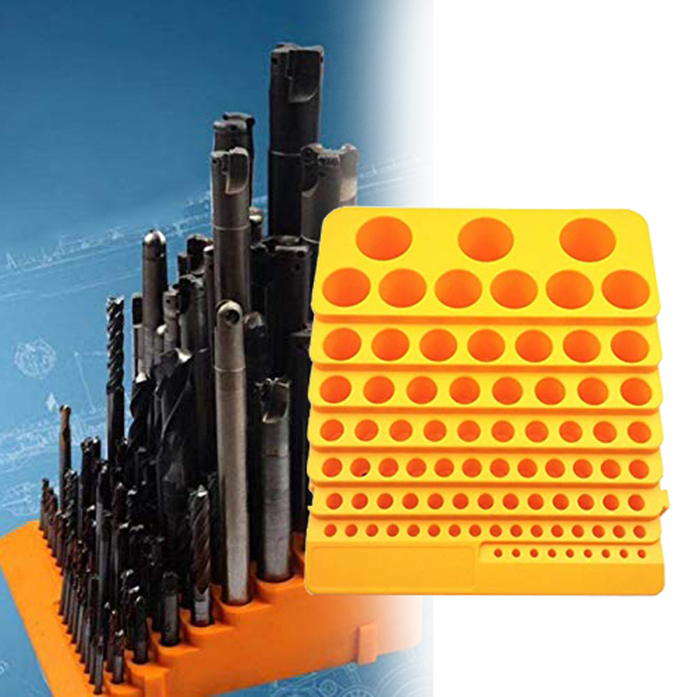 Tool Box Storage Multifunction 85 Holes Reamer Milling Cutter Plastic Desktop Drill Bit Portable Accessories Thickened Rack
