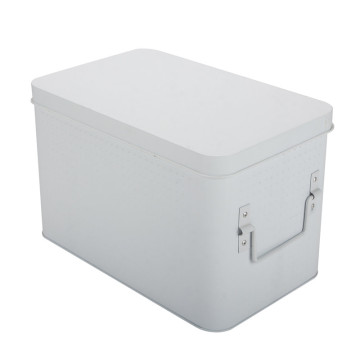 Large White Metal First Aid Box