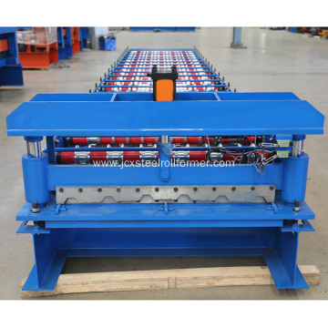 Trapezoidal roof panel forming machine