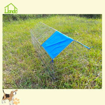 Folding Galvanized Chicken Coop Run With Cover