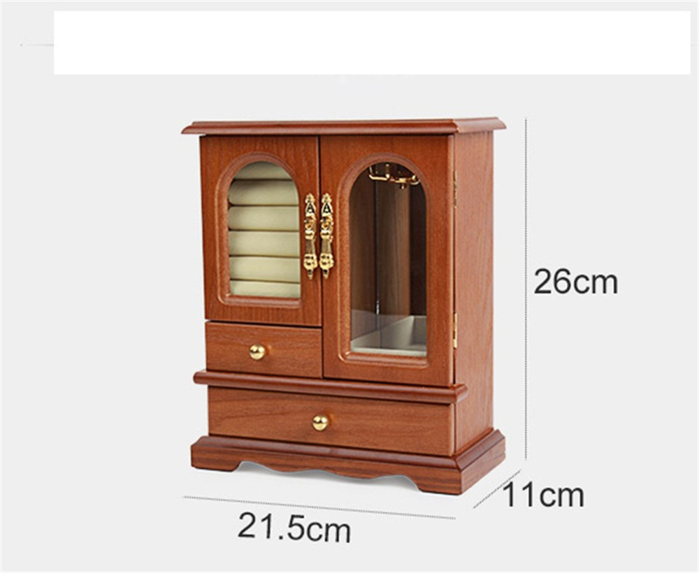 wooden jewelry cabinet