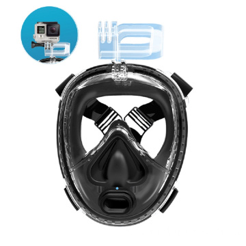 Inhale and exhale breathing system snorkeling mask