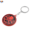 Metal Custom Zinc Alloy Keychain With Round Shape