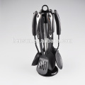 6pcs kitchen utensils set black nylon