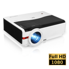 6000 Lumens Wifi Bluetooth Projector LCD HD 1080P Support Airplay Wireless HDMI Android Beamer for Home Theater Video Outdoor