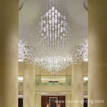 Art design customizable mall crystal ball chandelier lamp