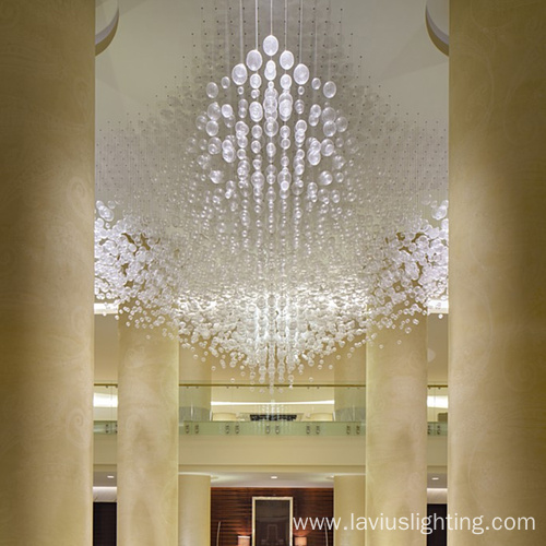 Customization hotel palace glass ball chandelier pendant