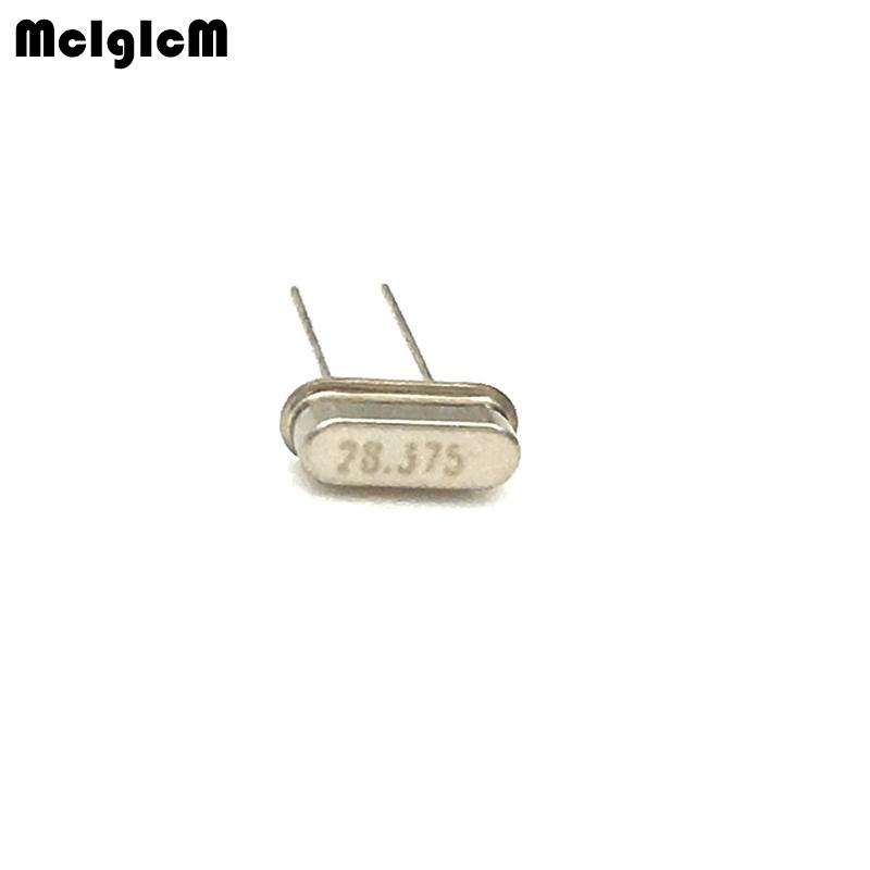 20pcs hc-49s 28.375MHz 20ppm 20pF quartz resonator