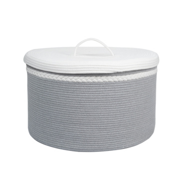 Picnic Storage Cotton Rope Laundry Baskets with lid