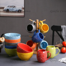 Set of 7 Colorful Daily used Mugs