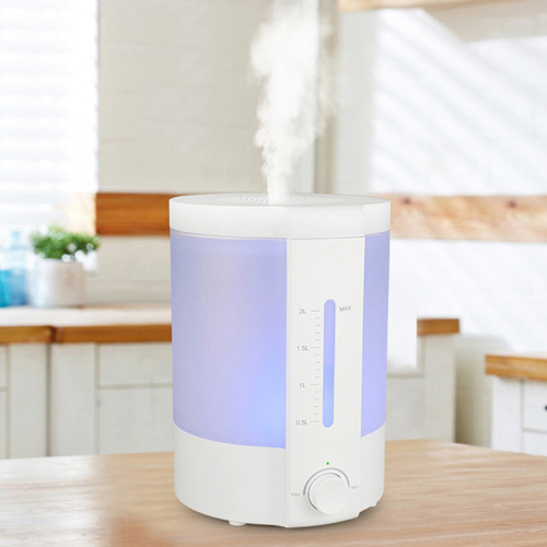 PP Material White Top Fill Ultrasonic Humidifier 2l