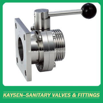 Hygienic Butterfly Valves Male and Weld DS/SMS