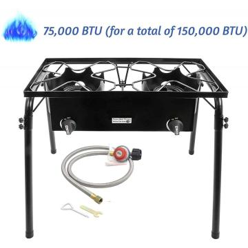 Portable Gas Cooker Camping 2 Cooking Stove