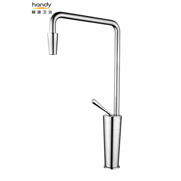 White Single Lever Brass Kitchen Faucets