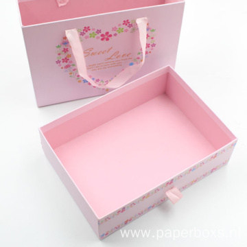 Custom Printed Sliding Drawer Packaging Paper Gift Box