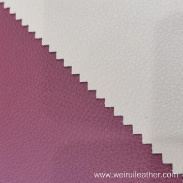 0.9mm Litchi Grain PVC Leather With French Terry