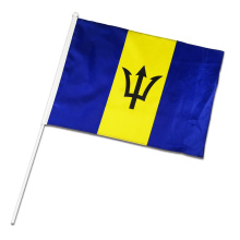 Barbados Hand Flag National Day Promotion Banner