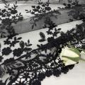 Delicate 3D Polyester Yarn Mesh Embroidery Fabric