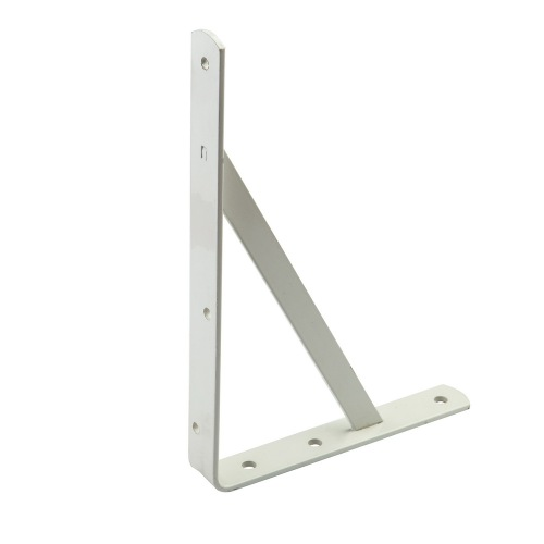 Cheaper Durable white coating Iron wall shelf brackets
