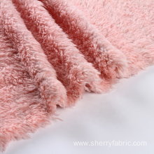 New design polyester coral fleece brushed knit fabric