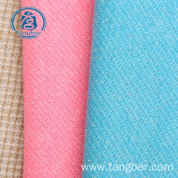 Knit polyester cotton french terry fabric for cloth