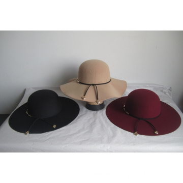Women's Faux Wool Felt  Church Hats--YJ78