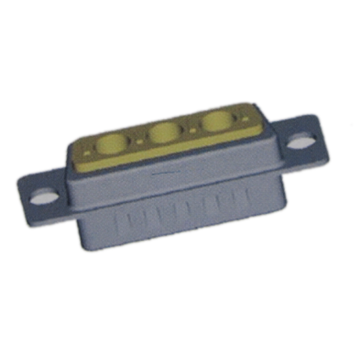 3W3 Male D-Sub Solder Cup Coaxial Power Connector