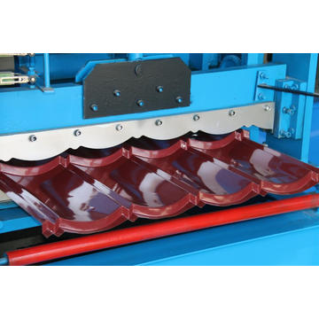 Arc glazed steel roofing tile sheet roll forming machine