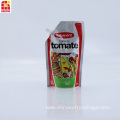Custom Printed Tomato Sauce Stand Up Spout Pouch