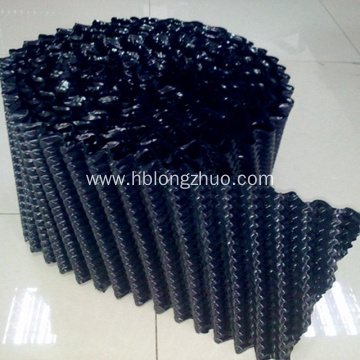 Black obliquely staggered cooling tower pvc fillings