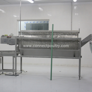Poultry processing machine of offal water seperator