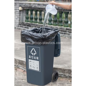 PE Black Plastic Garbage Bag on Sheet