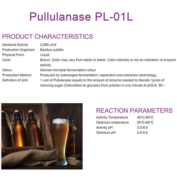 Pullulanase for brewing industry
