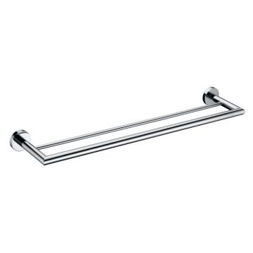 Brass double towel rack for shower