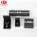 Custom Logo Black Jewelry Necklace Ring Paper Box
