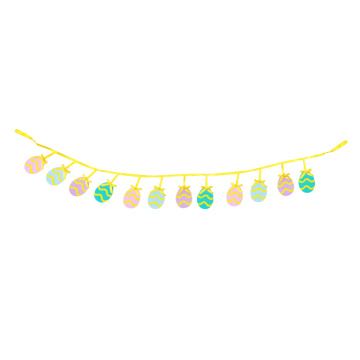 Cute Easter egg Pattern Bunting Flags