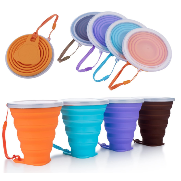Custom Silicone Collapsible Travel Cups