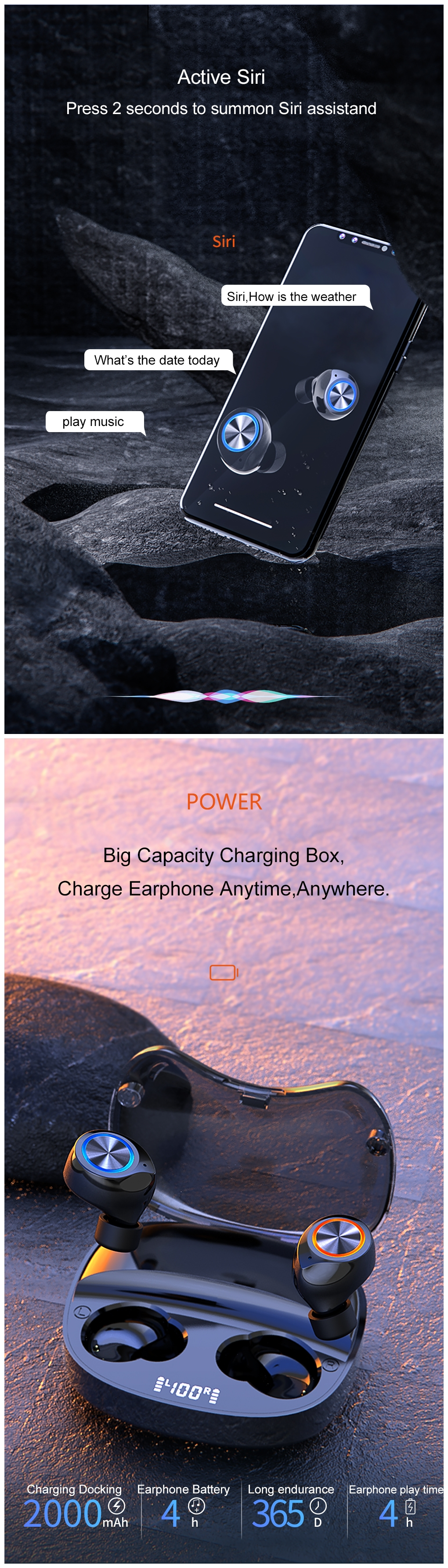 Wireless Earbuds With Power Bank 11