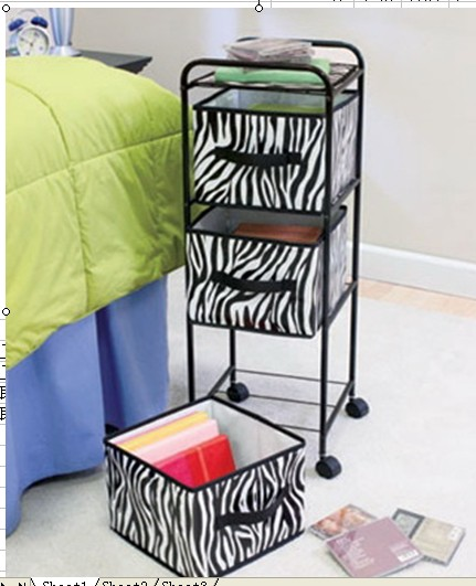 3 Drawer Storage Rack with Rolling