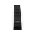 3 Sockets Surface Power Outlet with 2 USB