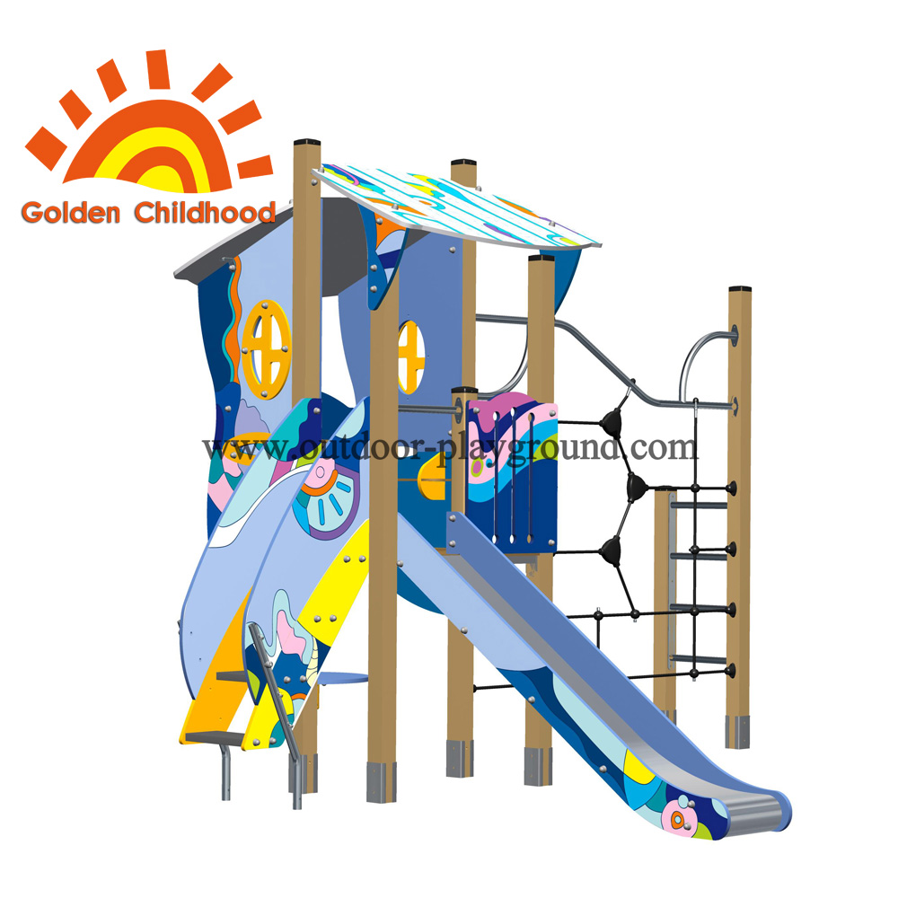 Climber Single Playhouse Backyard Outdoor Playground Facility For Children