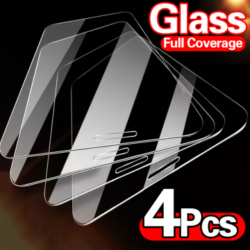 4PCS Full Cover Protective Glass On For iPhone 12 11 Pro Max X XR XS MAX Tempered Glass For iPhone 12 Pro Mini Screen Protector