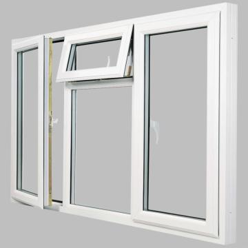 Good insulation performance aluminium casement windows with double glass factory sale
