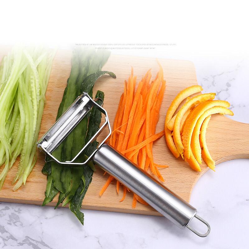 1PC Dual Slicer Shredder Peeler Vegetable Julienne Cutter Sharp For Potato Carrot Fruit Stainless Steel 304